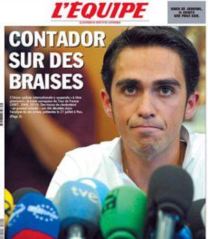 Las dudas sobre Contador se deben a un método no homologado que apunta a la autotransfusión
