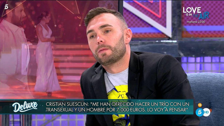La pillada de Cristian Suescun en 'Deluxe' sobre su relación con Rafael Amargo