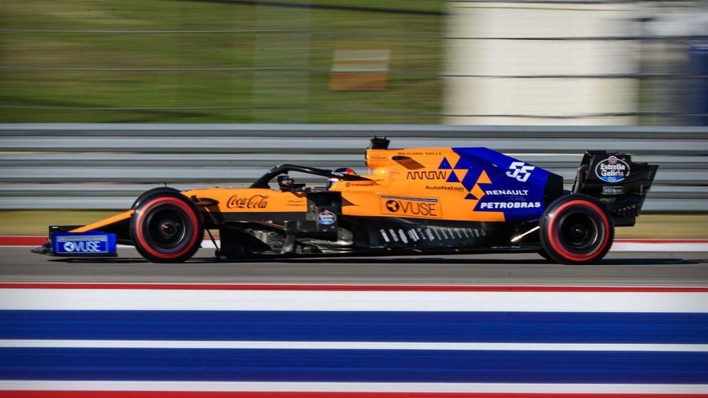 Foto: Carlos Sainz al volante del McLaren durante el Gran Premio de Estados Unidos. (USA TODAY)