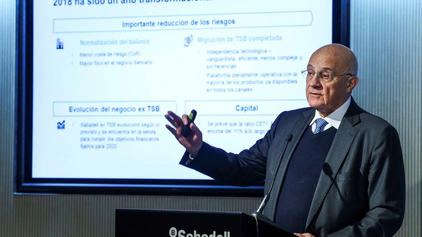 Foto: Josep Oliu, presidente de Banco Sabadell. (EFE)