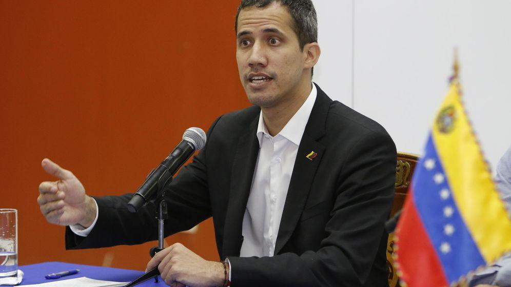 Foto: Juan Guaidó en rueda de prensa en Ecuador. (EFE)