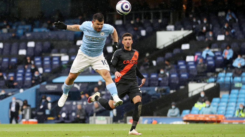 Agüero marca un gol este curso. (Reuters)