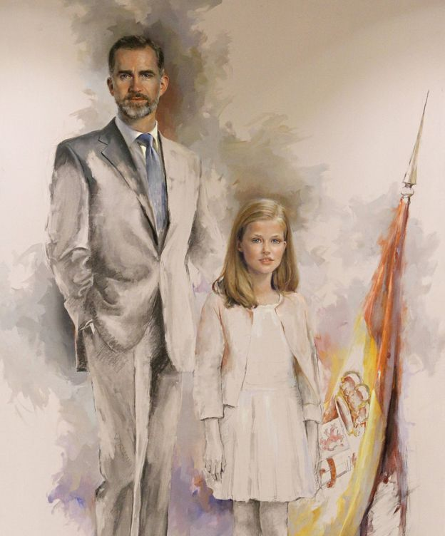 Foto: El cuadro de Ricardo Sanz del Rey Felipe VI y su heredera