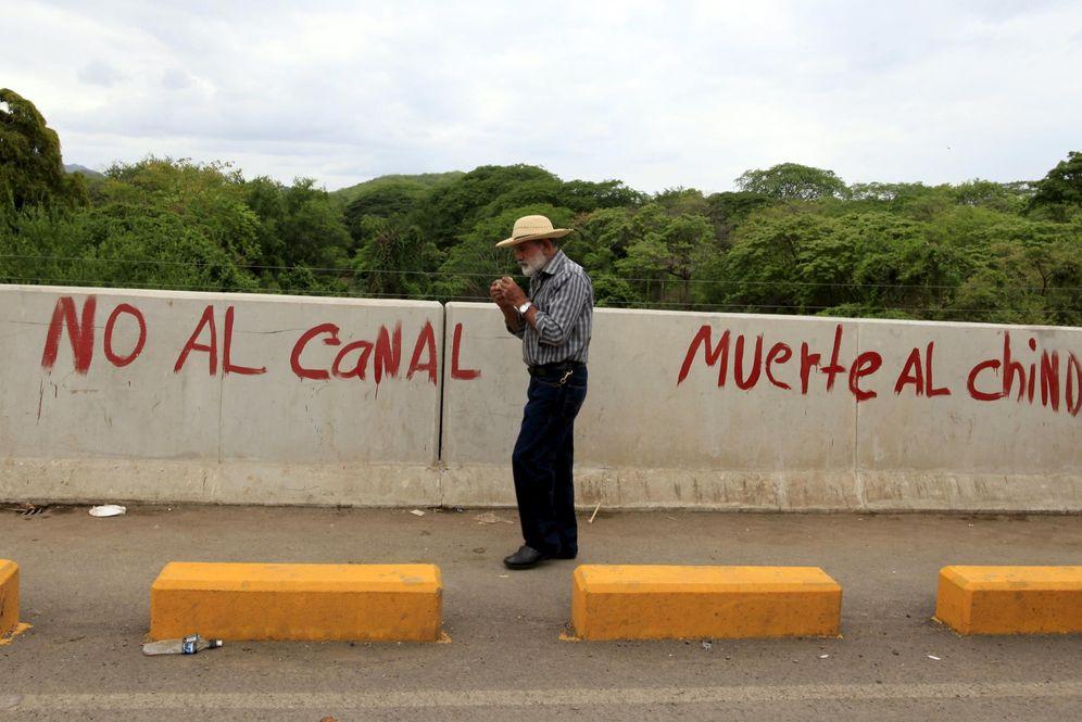 Foto: Pintadas contra el Gran Canal en Juigalpa, Nicaragua, en junio de 2015 (Reuters)