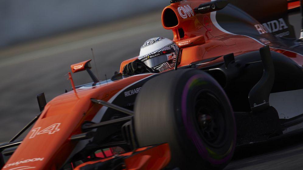 Foto: Fernando Alonso en esta tercera jornada de entrenamientos.