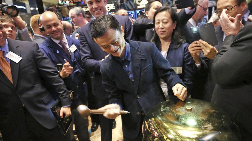 Foto: El presidente de la compañía de comercio electrónico Alibaba, Jack Ma, durante la primera OPV de la empresa en la Bolsa de Nueva York, en 2014. (Reuters)
