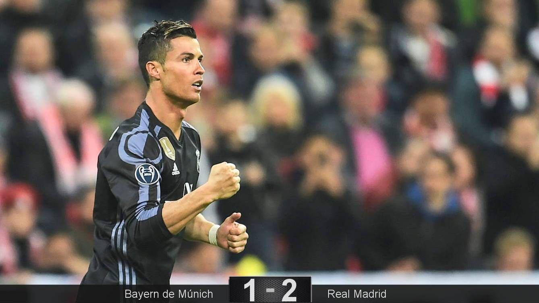 Foto: Cristiano marcó en Múnich los mismos goles que en el resto de su Champions. (EFE)