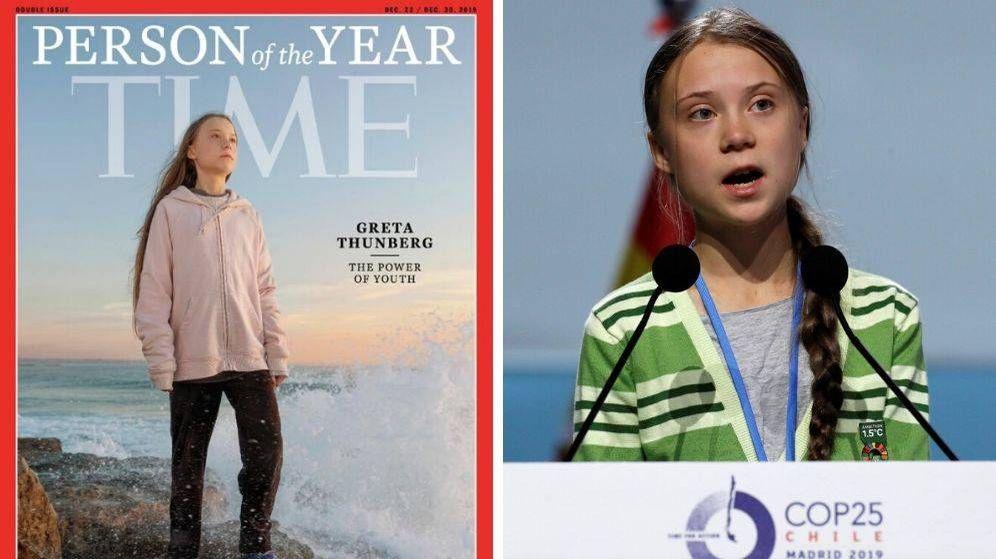 Foto: Greta Thunberg, persona del año para la revista TIME