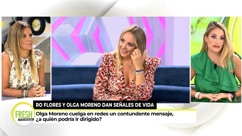 Marta López y Alba Carrillo, en 'Ya es mediodía'. (Mediaset)