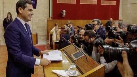 Moreno abre la transición en Andalucía con guiños a Vox y el PSOE alentando protestas