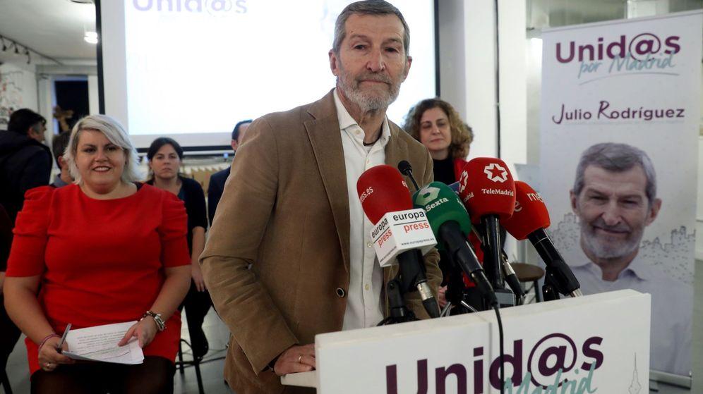 Foto: El exJemad y candidato a liderar Podemos en Madrid, Julio Rodríguez, durante la presentación esta tarde en Madrid. (EFE)