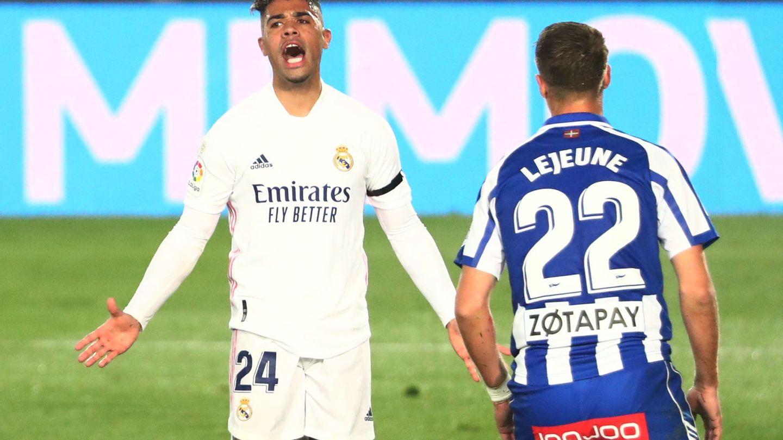 Mariano en un partido contra el Alavés. (Efe)