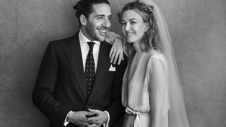Marta Ortega con su marido. (Peter Lindbergh)