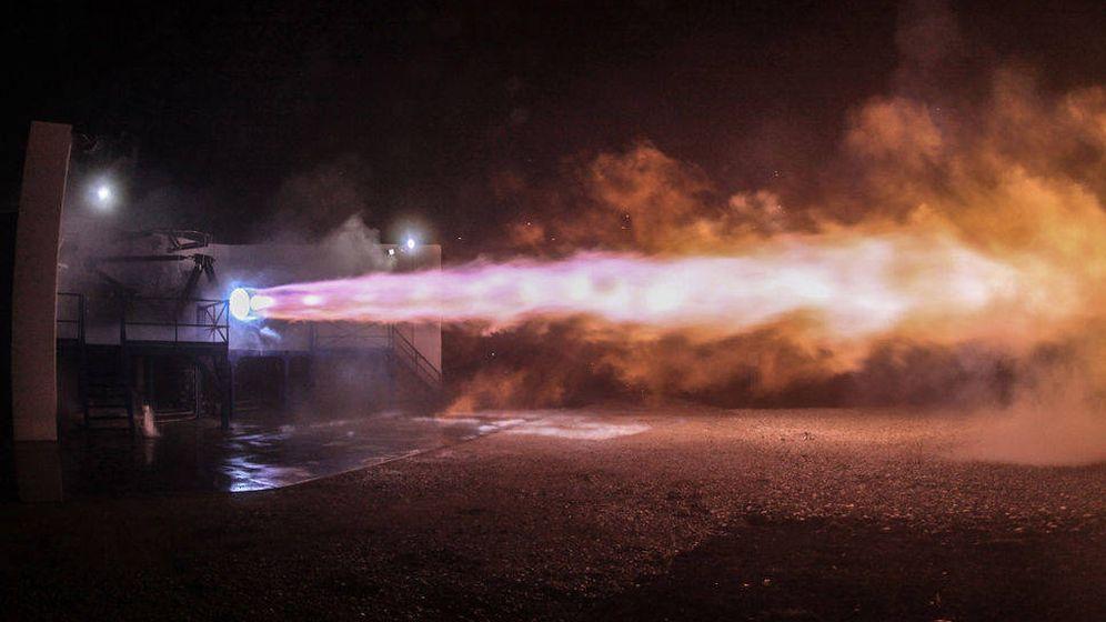 Foto: Uno de los últimos ensayos del Rocket Engine. (SpaceX)