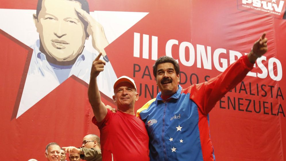 Foto: Nicolás Maduro y el General Hugo Carvajal en 2014. (Reuters)