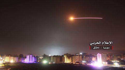 Las imágenes del bombardeo de Israel a Siria, el mayor desde 1973
