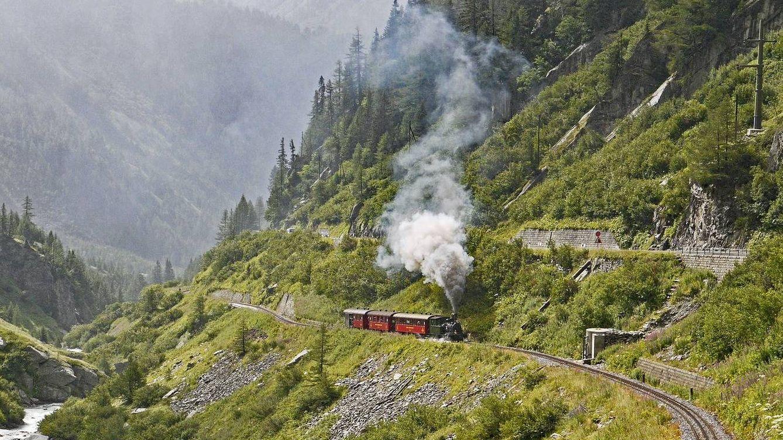 Foto: Viajando en tren por Suiza. (Creative Commons)