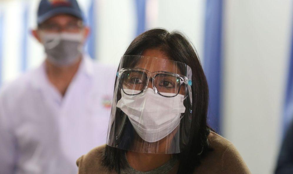 Foto: Fotografía cedida por Prensa de Miraflores donde se observa a la vicepresidenta Delcy Rodríguez. (EFE)