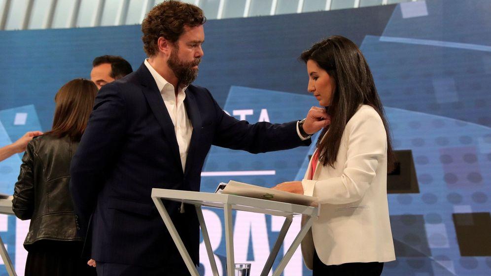 Foto: Iván Espinosa de los Monteros y Rocío Monasterio, en un debate televisivo. (EFE)