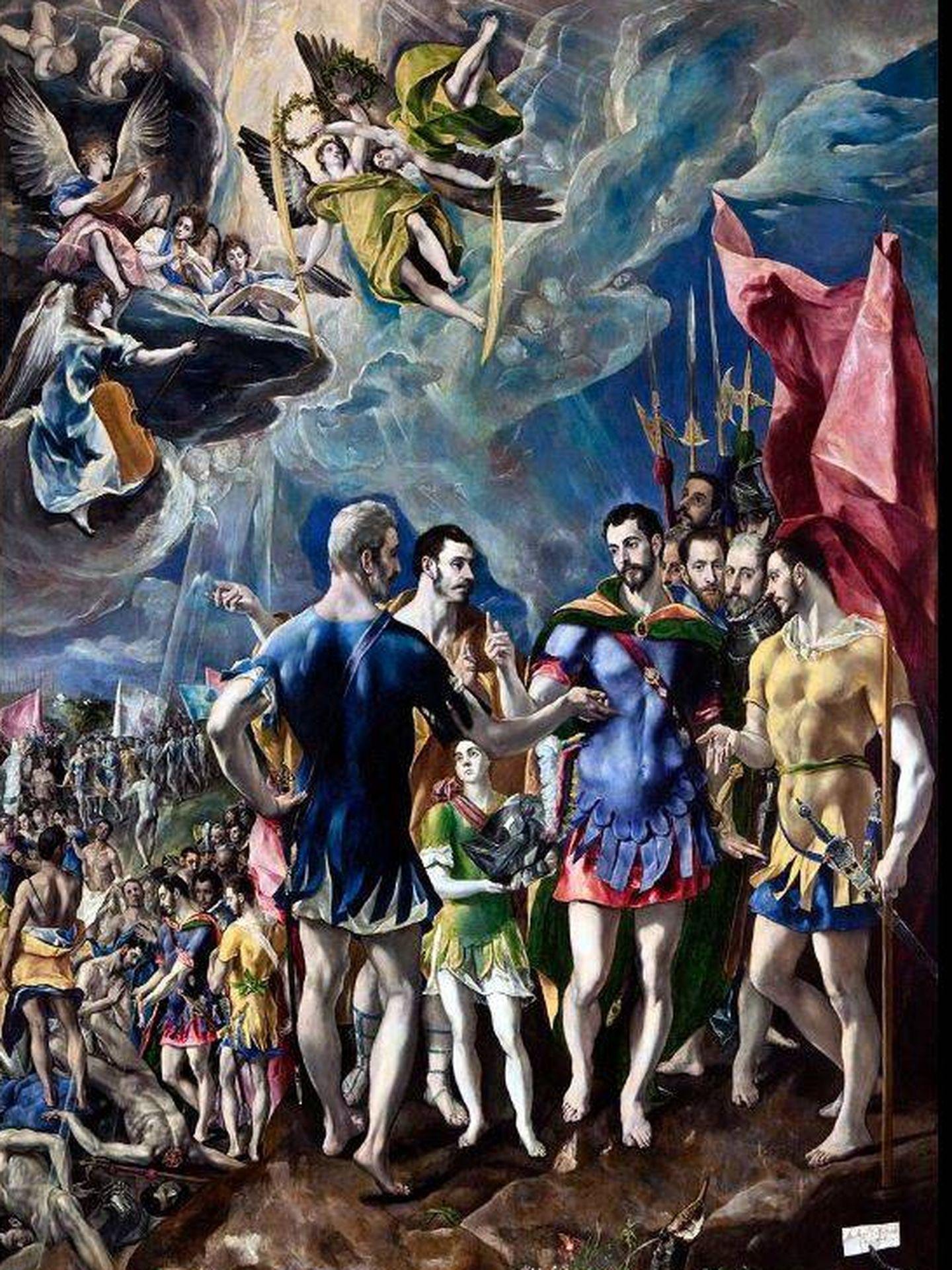 'El martirio de San Mauricio', por El Greco. (C.C.)