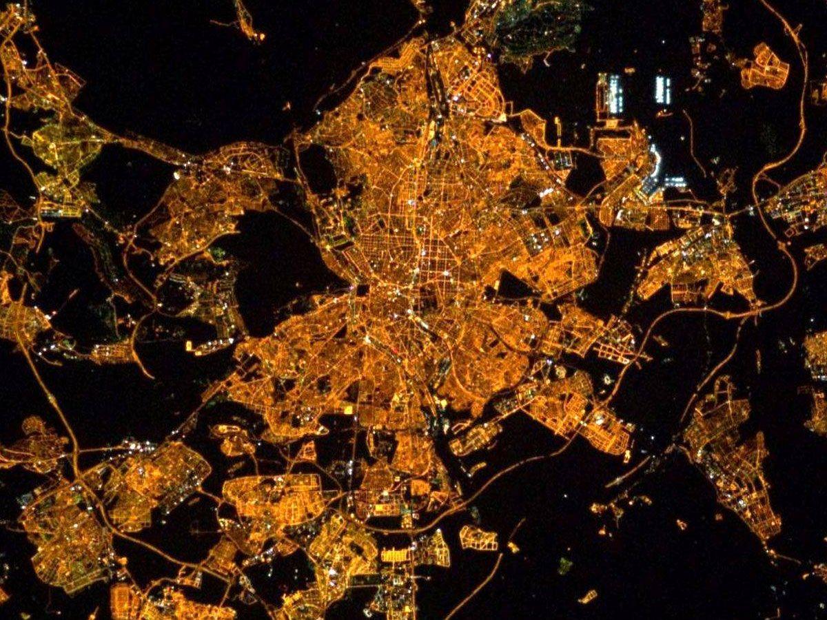 Foto: Madrid desde la ISS. (ISS)