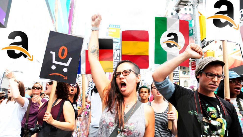 Asedio a Amazon: coalición de empleados de España, Italia y Francia contra el gigante
