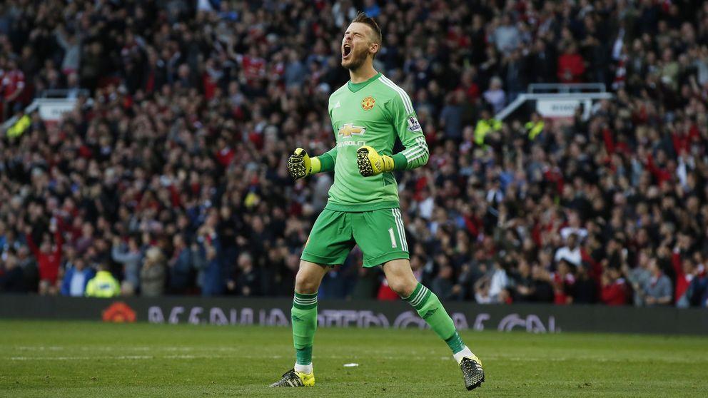 De Gea: el United sonríe mostrando gestos de triunfo tras su frustrada salida