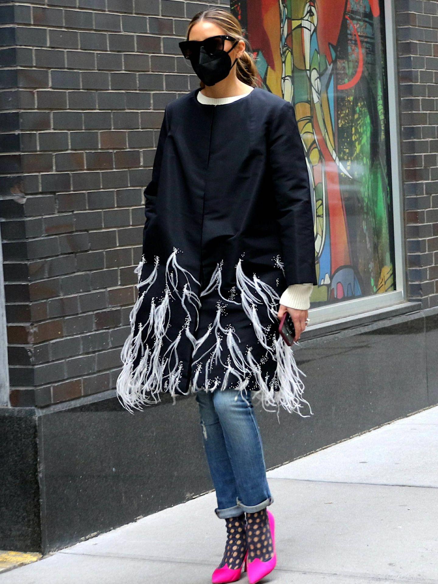 Olivia Palermo, de paseo por las calles de Brooklyn. (Cordon Press)