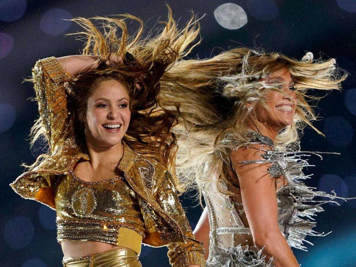 Foto: Shakira y JLo, en 2020. (Reuters)