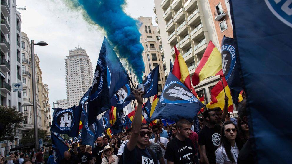 Marcha neofascista en el centro de Madrid