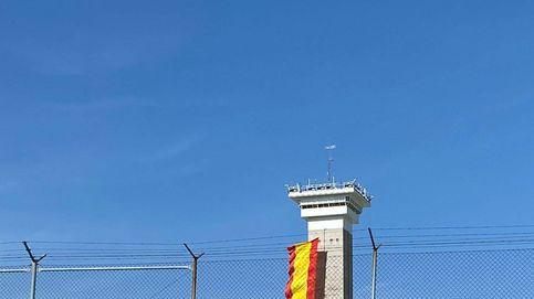 Un banderón de España en la cárcel de Soto del Real para animar a la Roja en la Eurocopa