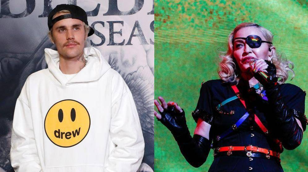 Foto: Justin Bieber y Madonna. Fotos: Efe