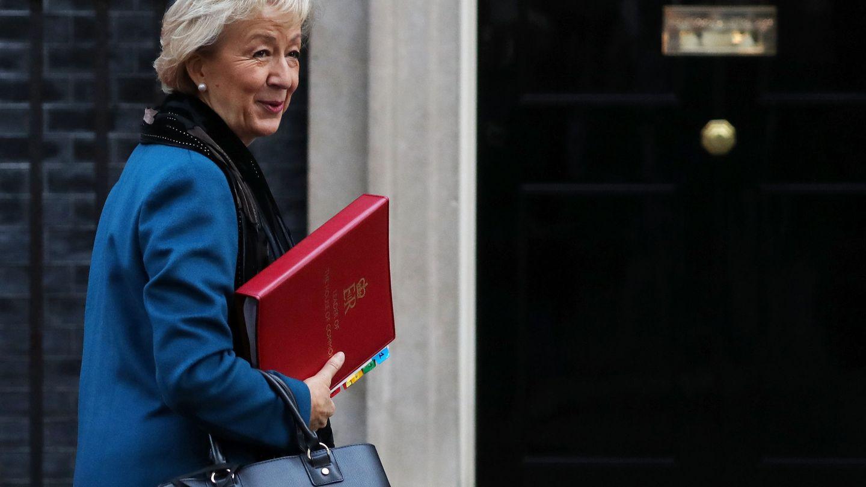 Andrea Leadsom llega a Downing Street, el 13 de noviembre de 2018. (Reuters)