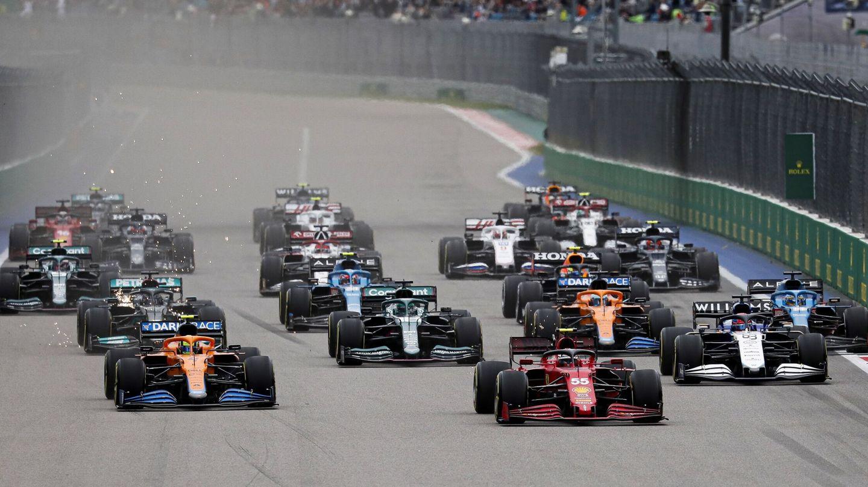 Sainz se puso primero en la salida. (Reuters)
