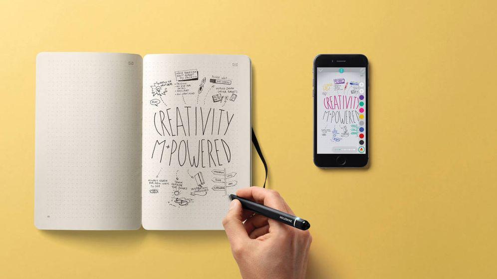 Foto: Pinta y colorea en modo on y off con tu móvil y este bloc. (Foto: Moleskine)