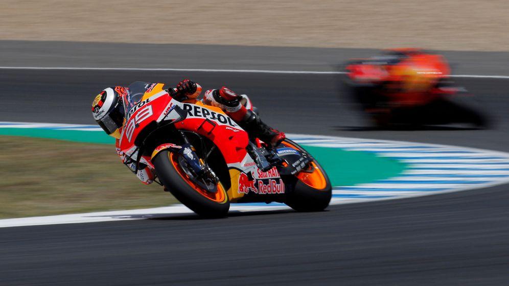 Foto: Lorenzo durant el Gran Premio de Jerez. (REUTERS)