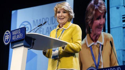 Esperanza Aguirre rompe a llorar en el Congreso del PP de Madrid