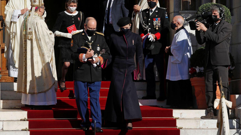 Carolina de Mónaco, con sus canas a la vista. (Reuters)