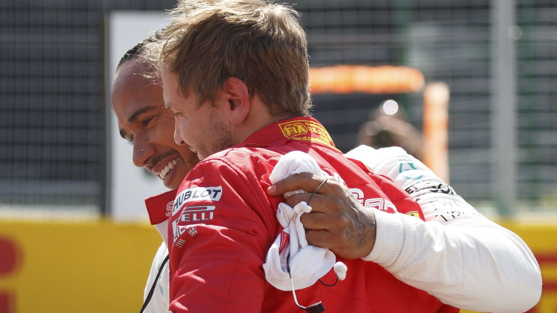 Vettel y Hamilton llevan muchos años enfrentándose. (EFE)