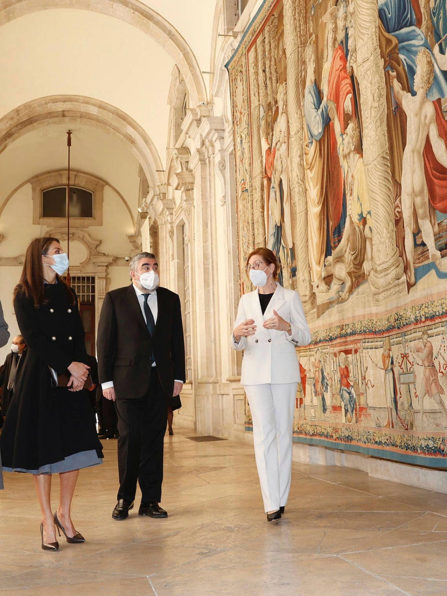 La reina Letizia, en el Palacio Real. (LP)
