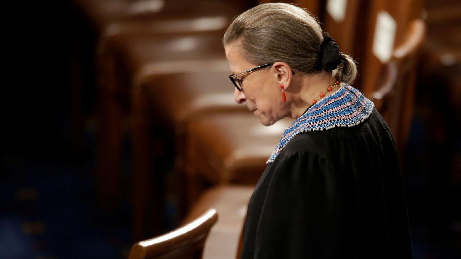 Foto: Imagen de archivo de Ruth Bader Ginsburg. (Reuters)