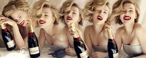 Scarlett Johansson, la burbuja con más glamour de Moët Chandon
