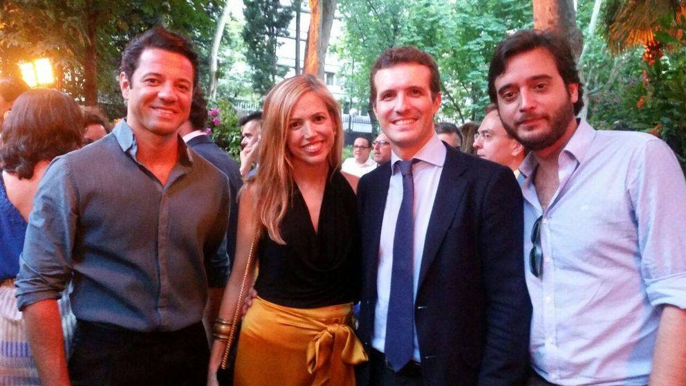 Pablo Casado, protagonista de la embajada italiana en una de las fiestas de la temporada