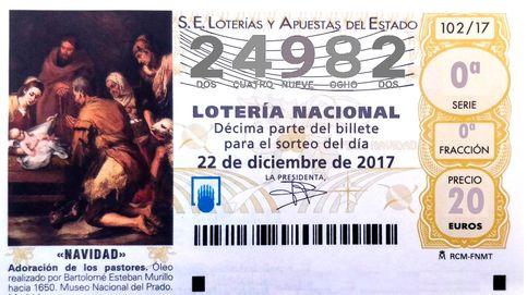 Sale el penúltimo quinto premio: el 24.982 entrega 6.000 euros al décimo