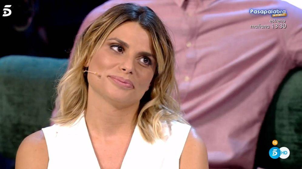 Foto: María Lapiedra, en 'Sálvame'. (Telecinco)