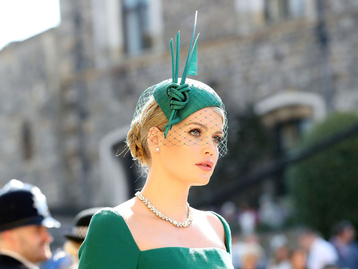 Foto: Lady Kitty Spencer, en la boda de Harry y Meghan. (Reuters)