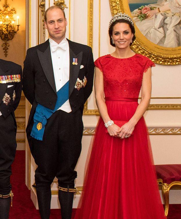 Foto: Los duques de Cambridge durante la recepción de este jueves (Gtres)