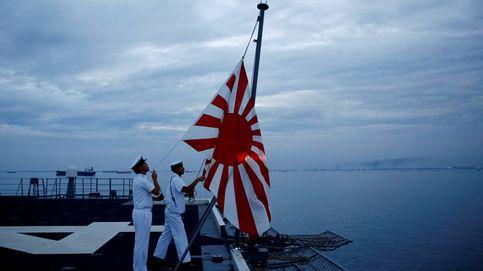 A bordo del portahelicópteros Kaga de la marina de Japón