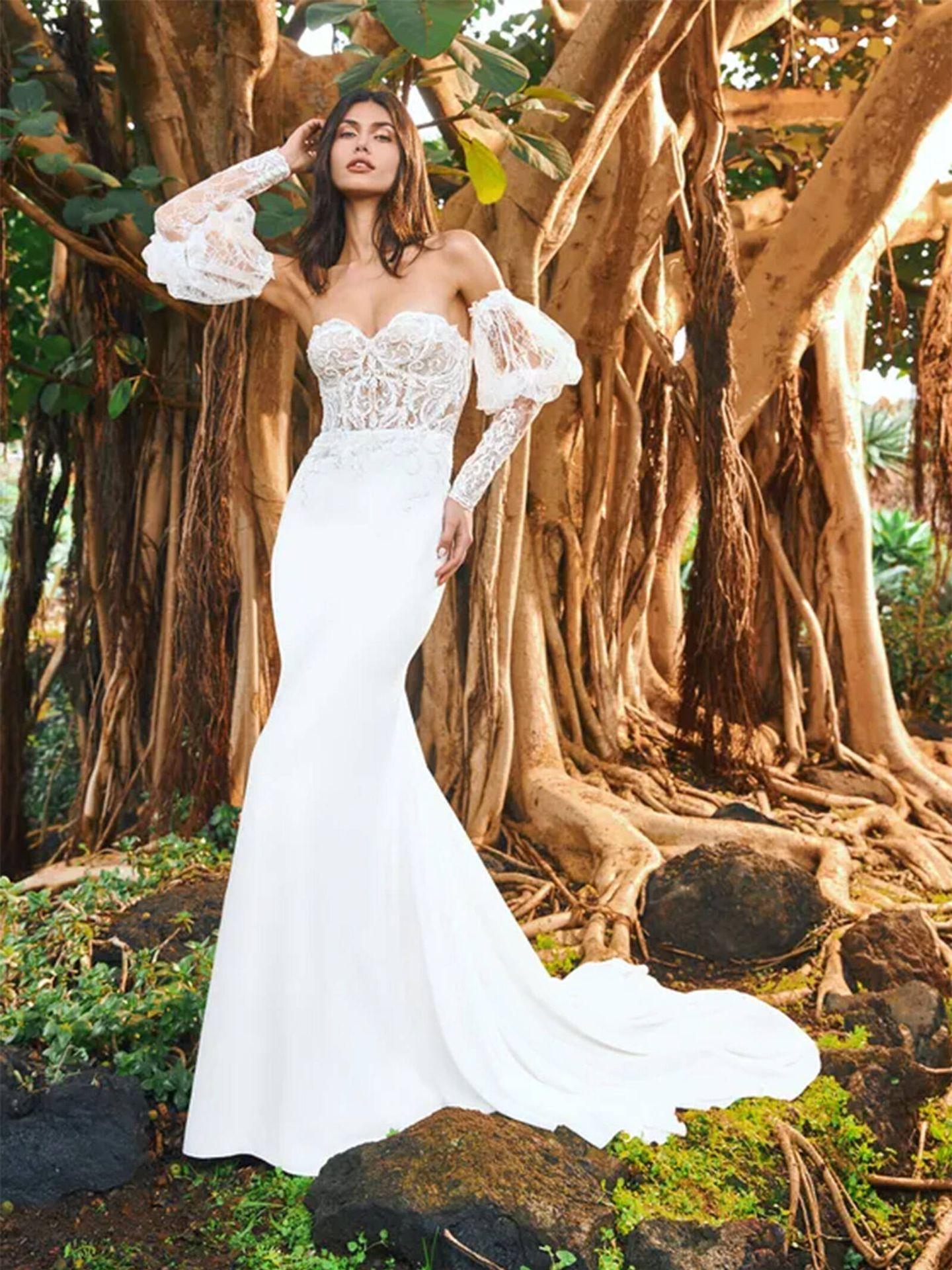 Vestido de novia de la nueva colección de Pronovias, 'EDEN'. (Cortesía)