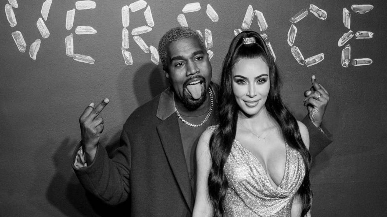 Kanye y Kim West. (Getty)